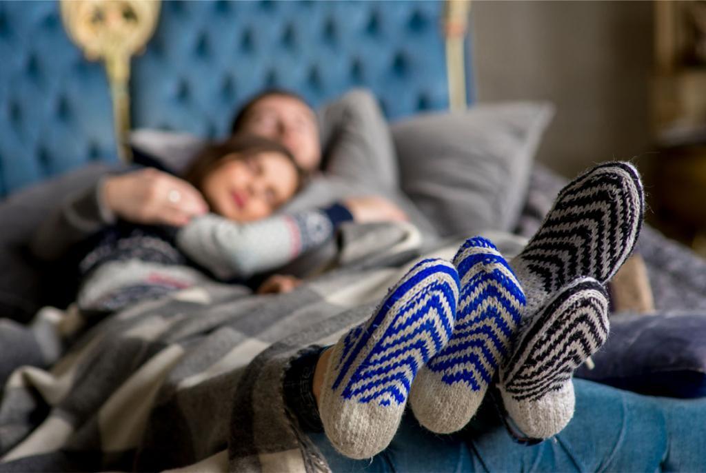 spavanje u čarapama
