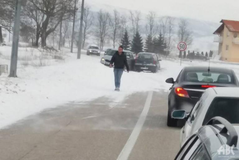 cesta snijeg