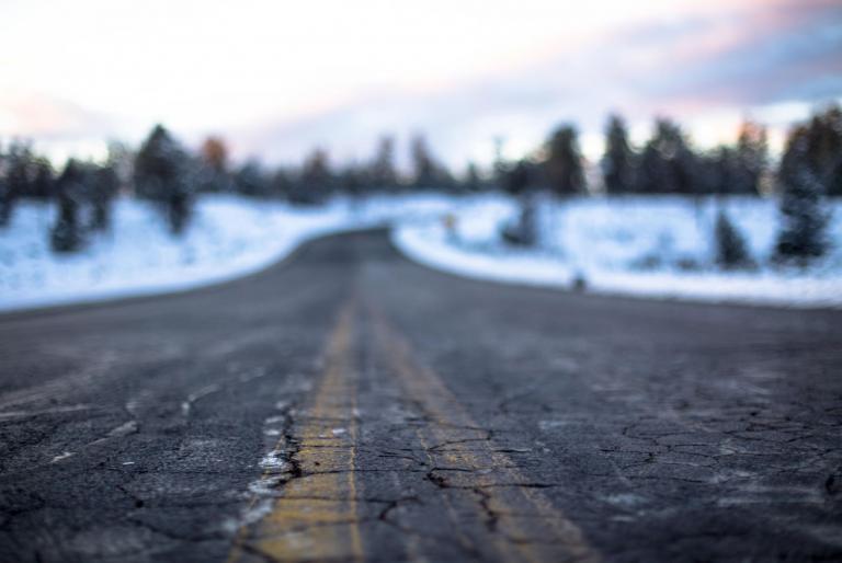 zima cesta